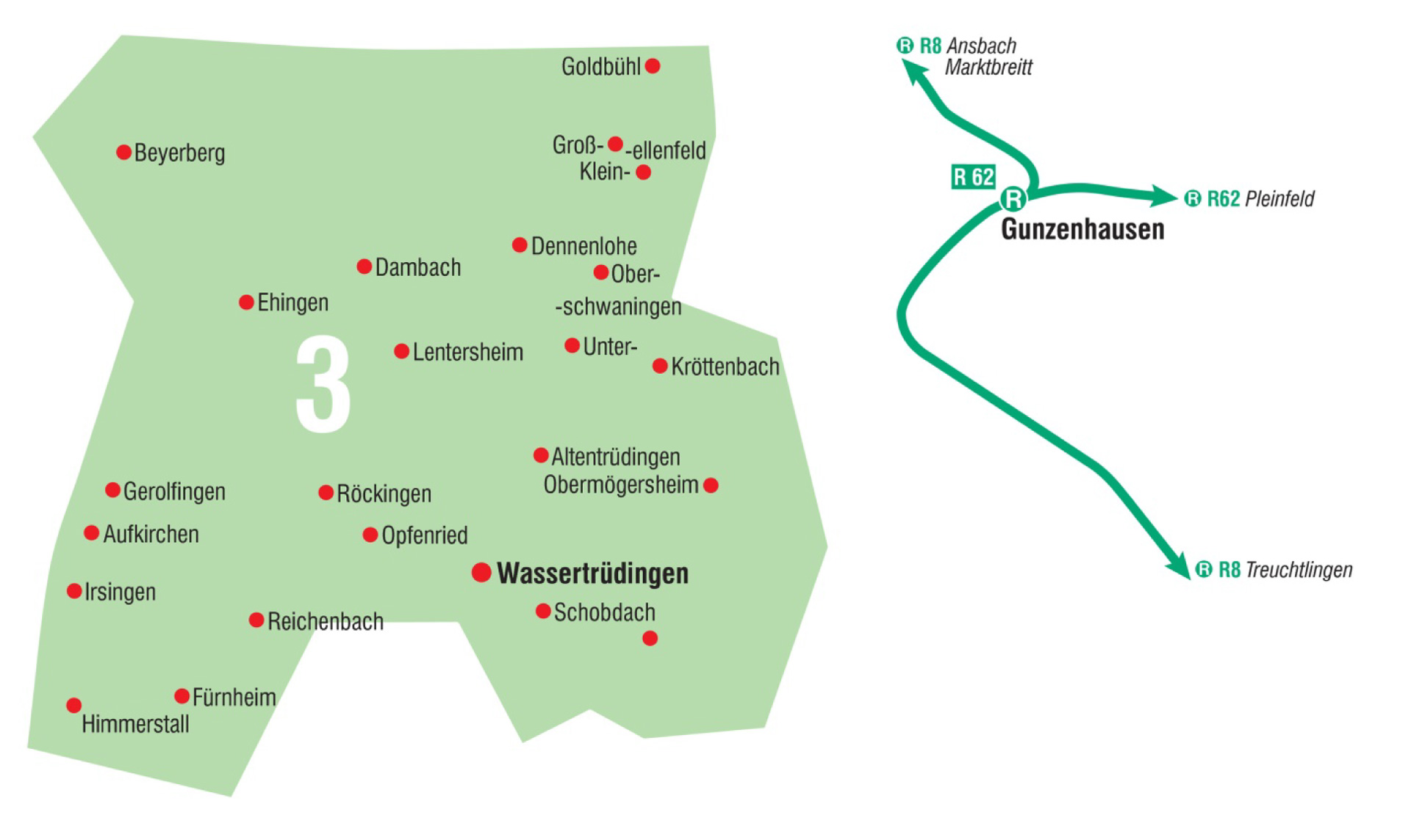 Karte AST Wassertrüdingen