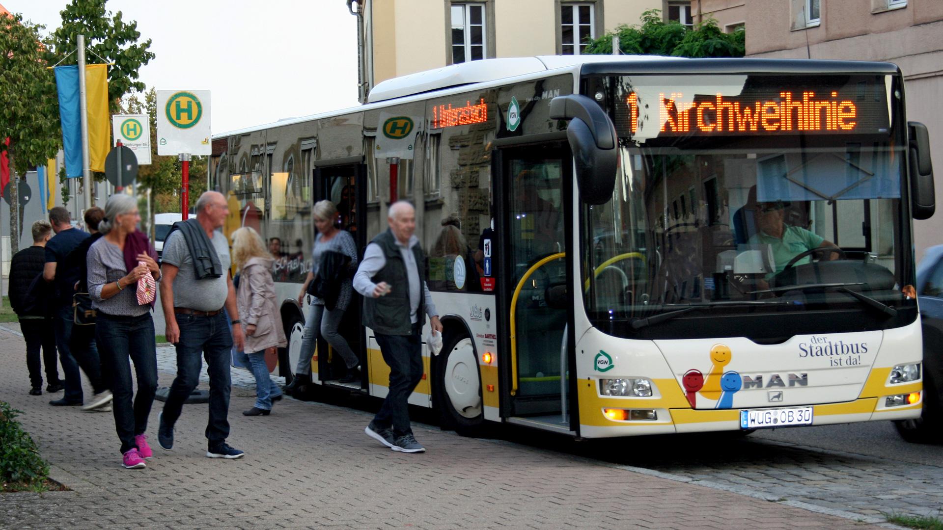Sonderlinienverkehr zur Kirchweih